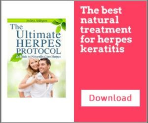 Herpes simplex keratitis treatment